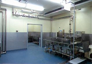 野菜洗浄・処理室
